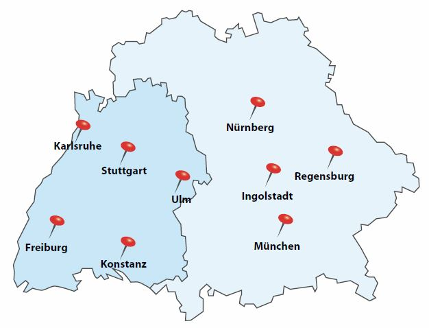 PMI Southern Germany Chapter EV PMI PMP PMBOK Guide Local - Germany map 2017