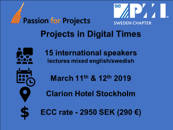 PMI Sweden Passion for Projects 2019
